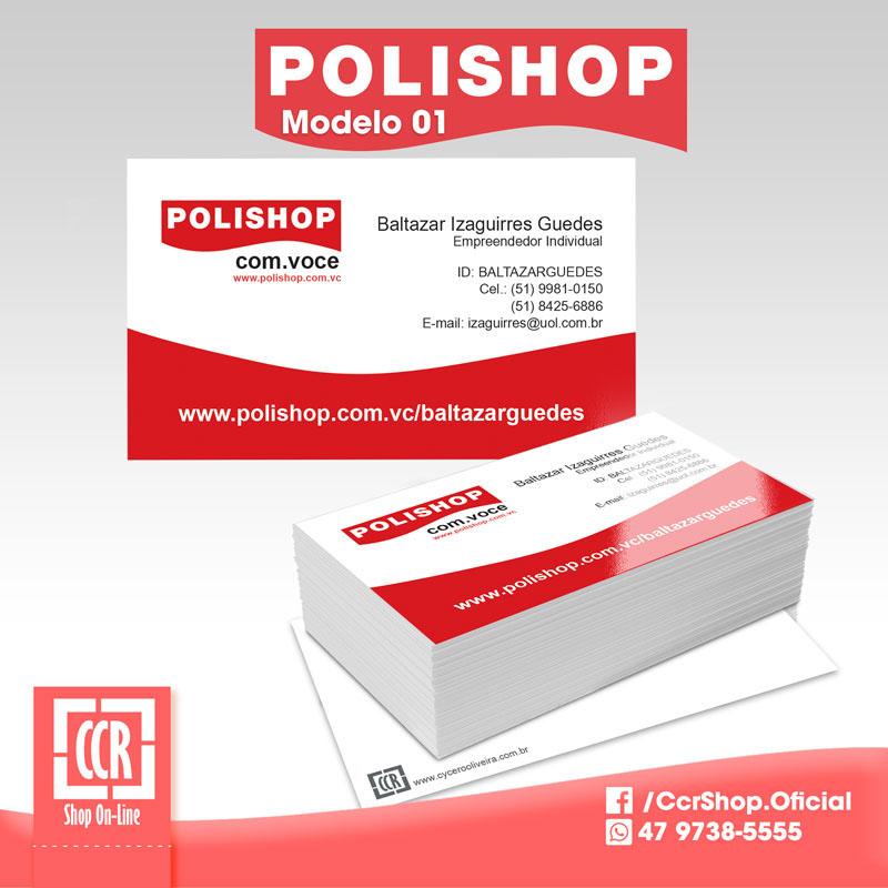 business card cartão visita polishop