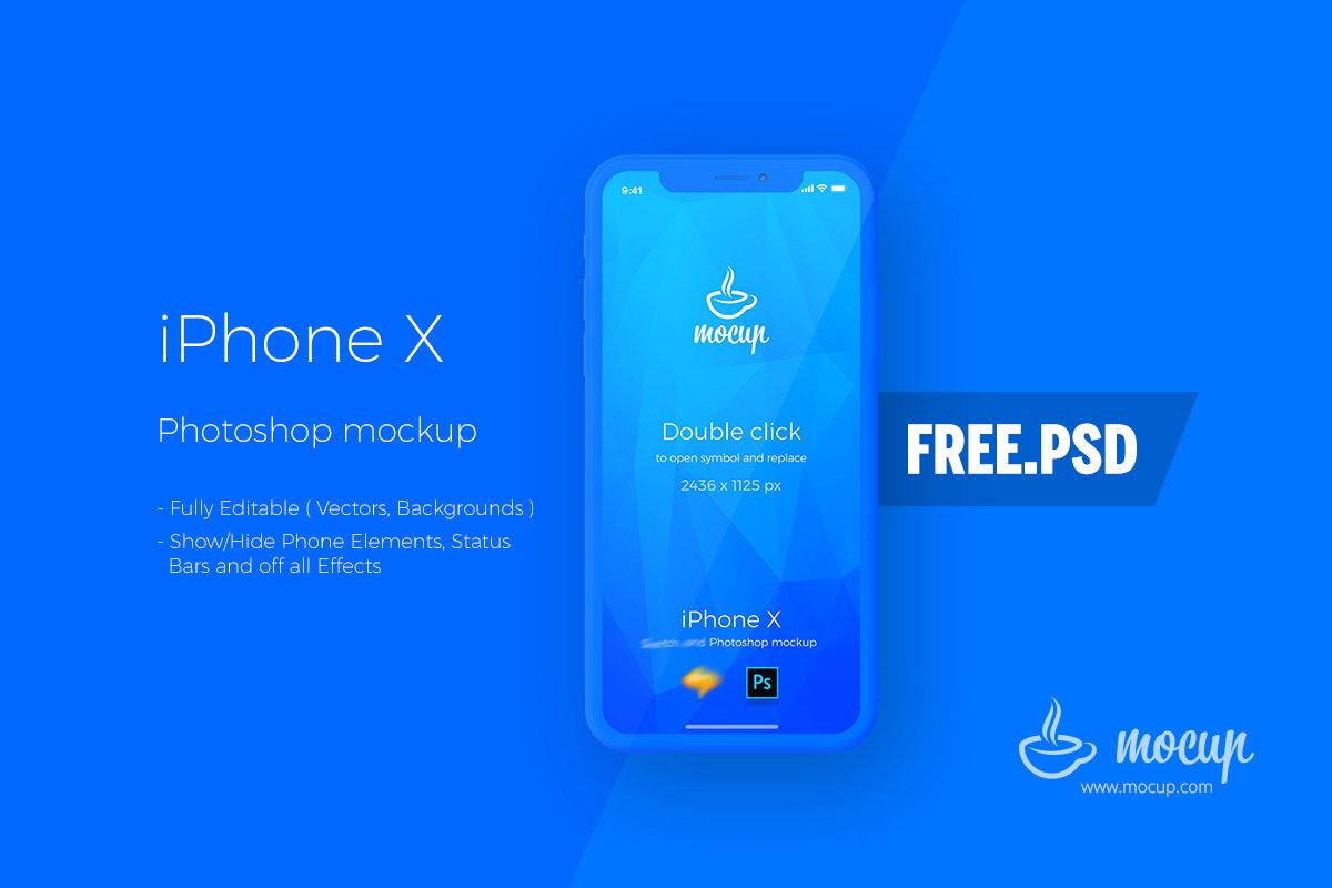 free psd iphone x app mockup on behance