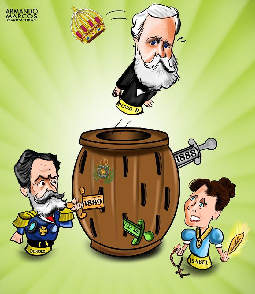art cartoon charge d.pedro II desenho digitalart história do brasil Ilustração ilustration