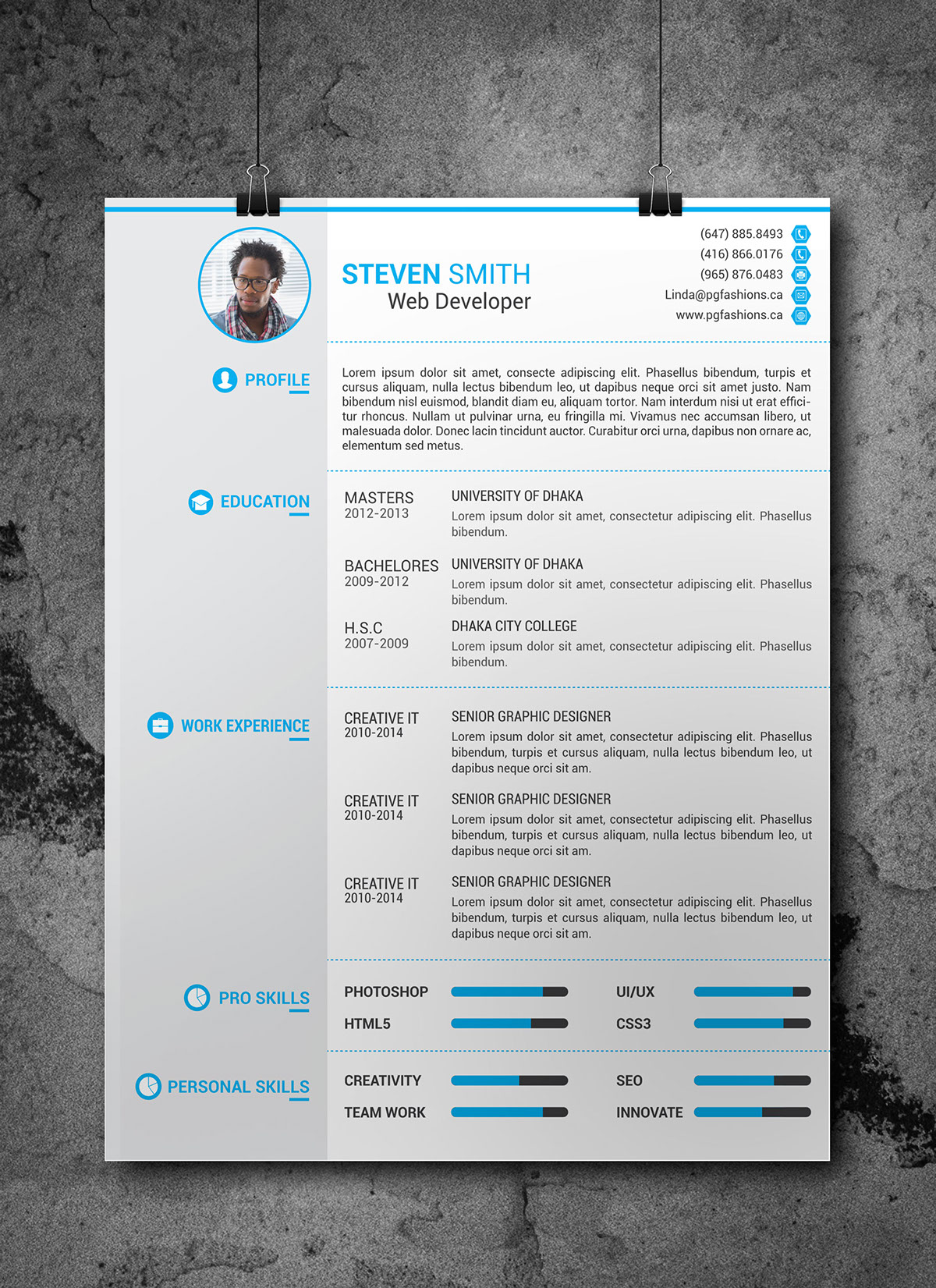 Resume Cover Latter Portfolio Template Free Download On Behance