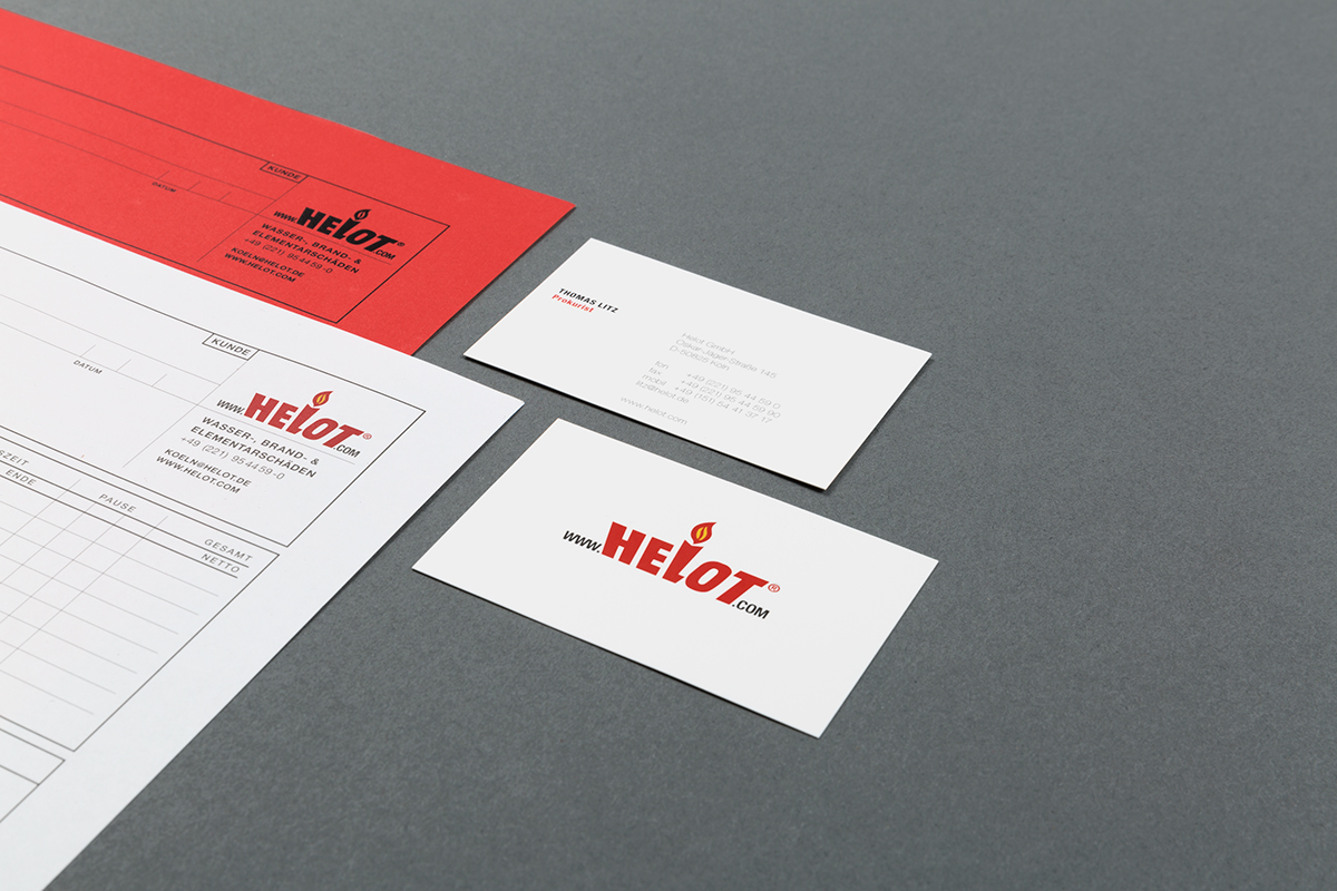 helot corporate design broschuere tools handmade craft company red architecture