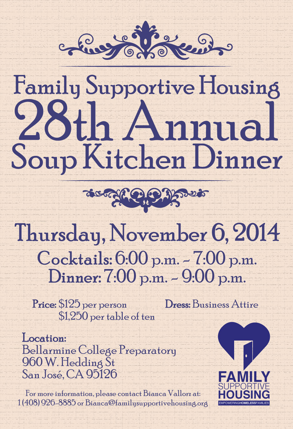 Family Supportive Housing Soup Kitchen Dinner On Behance