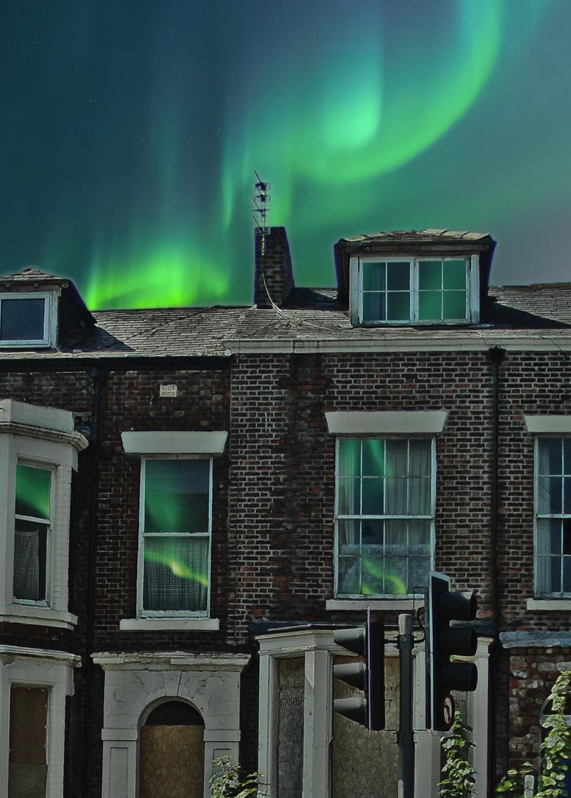 Aurora Borealis power outage  science fiction