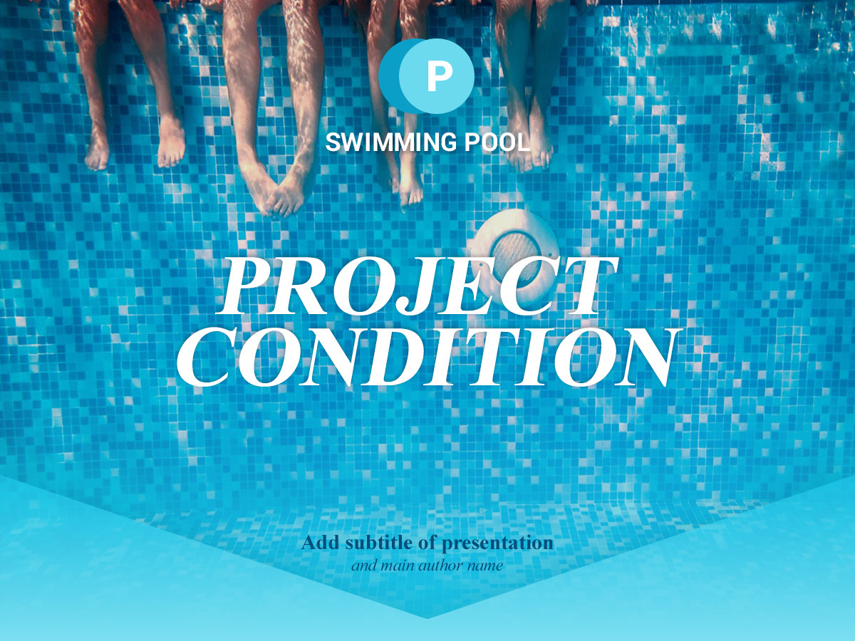 free swimming pool powerpoint presentation template on behance