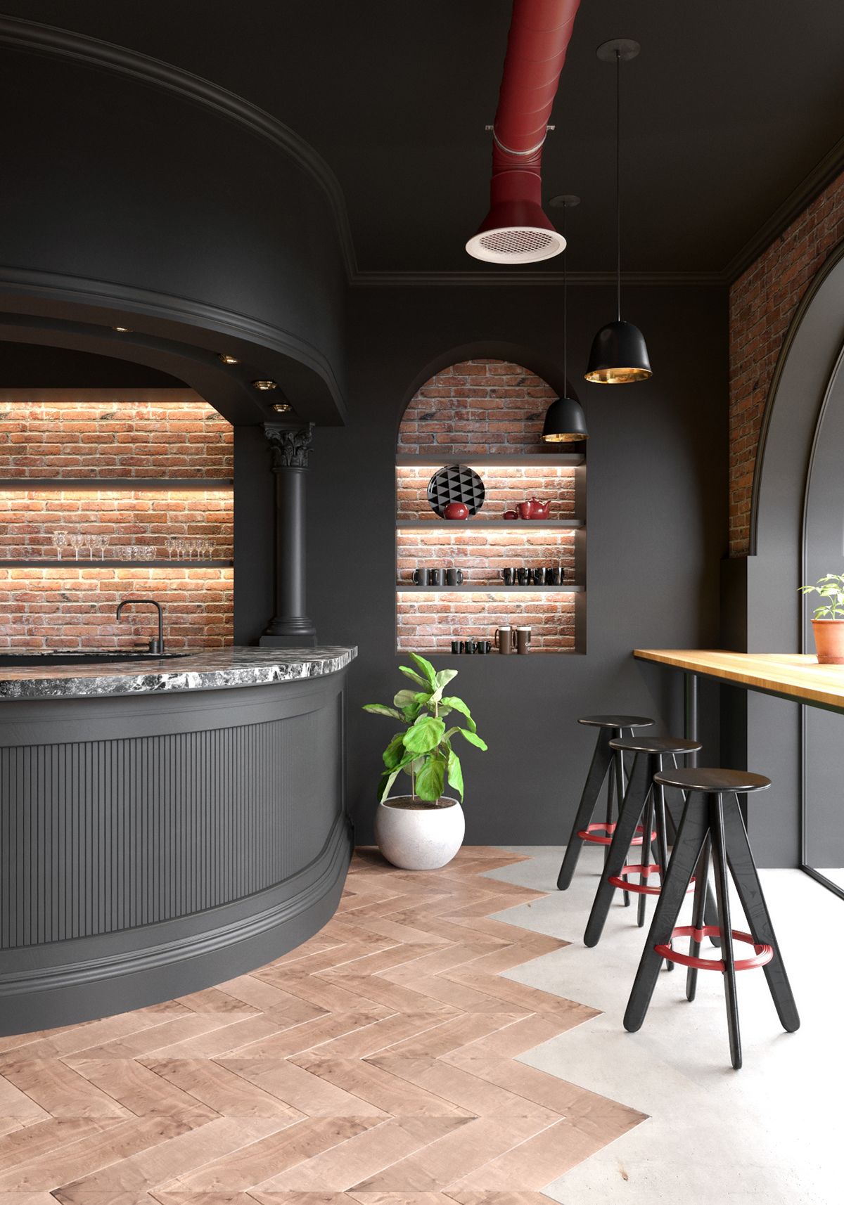 Modern Classic Cafe on Behance