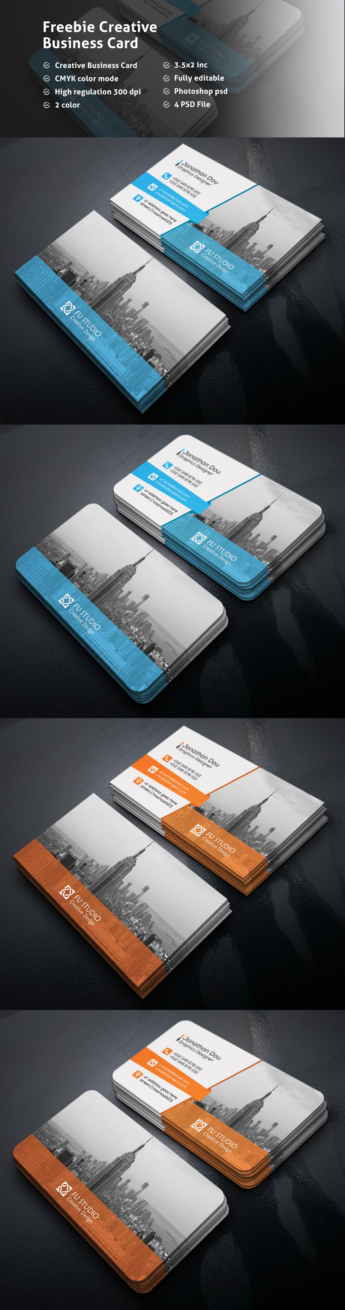 3.5x2 300dpi awesome Beautiful business card CMYK color company cool corporate creative design free Free Card freebie
