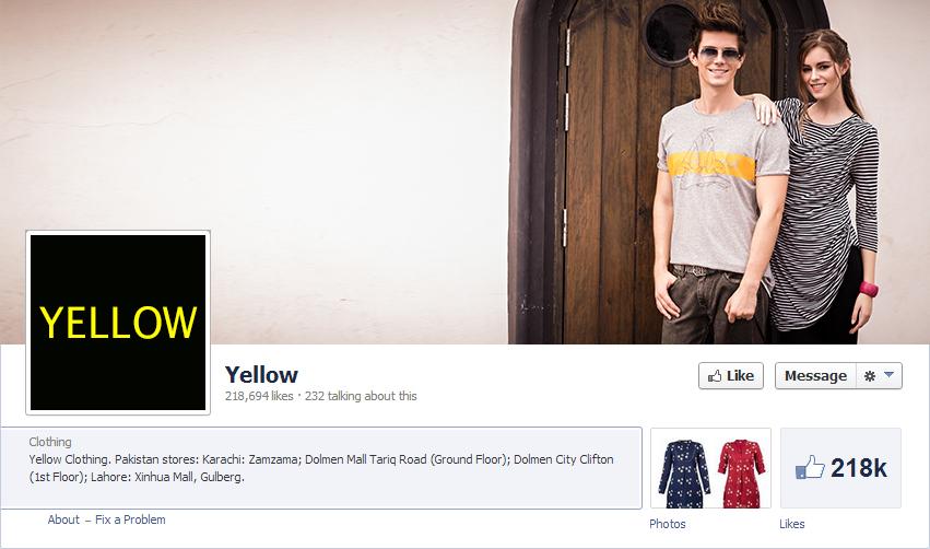 graphic design face book cover Fashion  social media yellow brand
