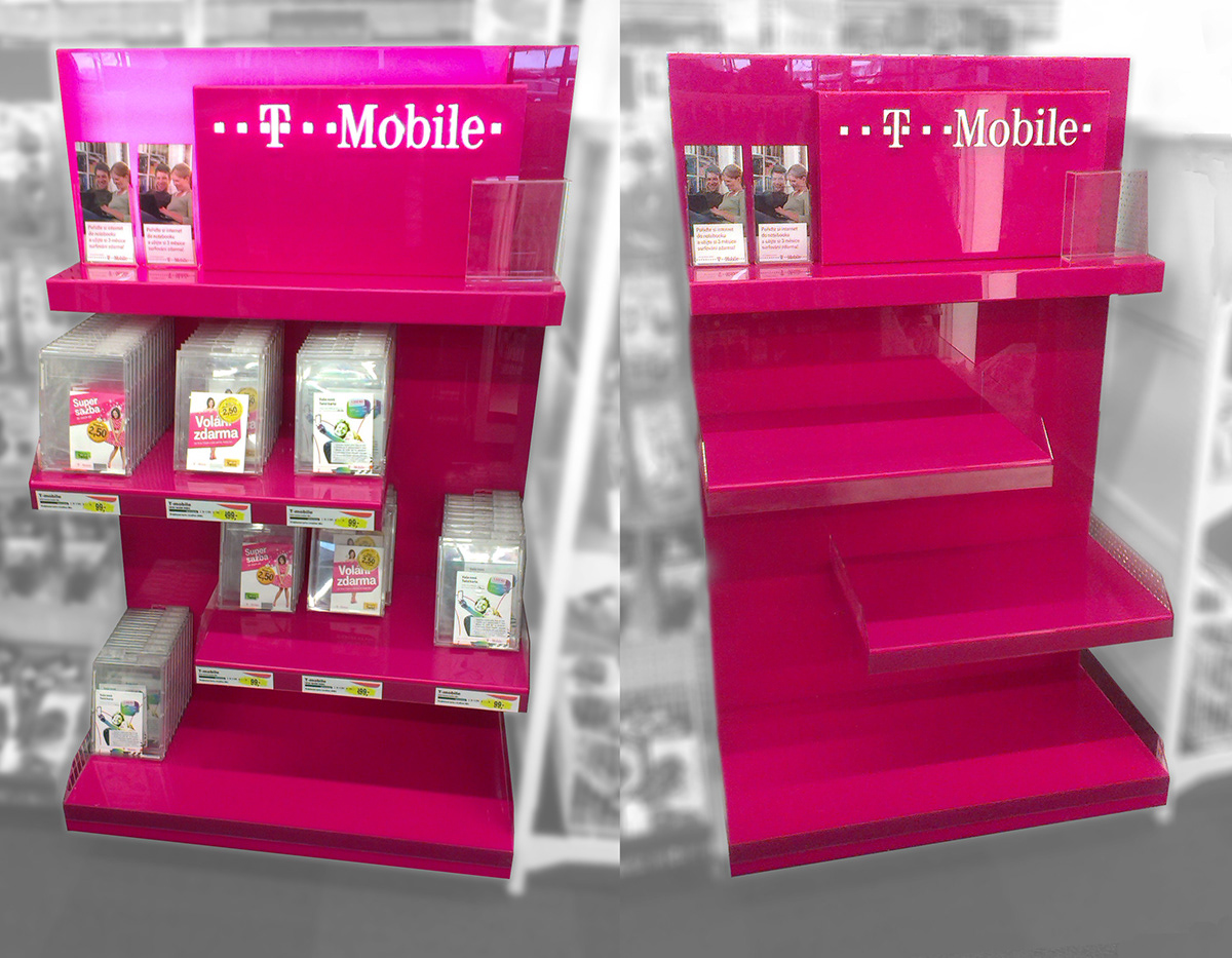 in-store instore Packaging SIM Stand