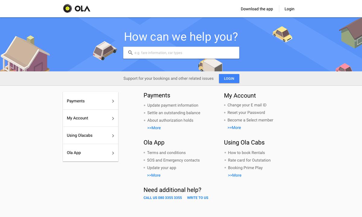 User สามารถค้นหาข้อสงสัยได้ในหน้า Support  (Source)