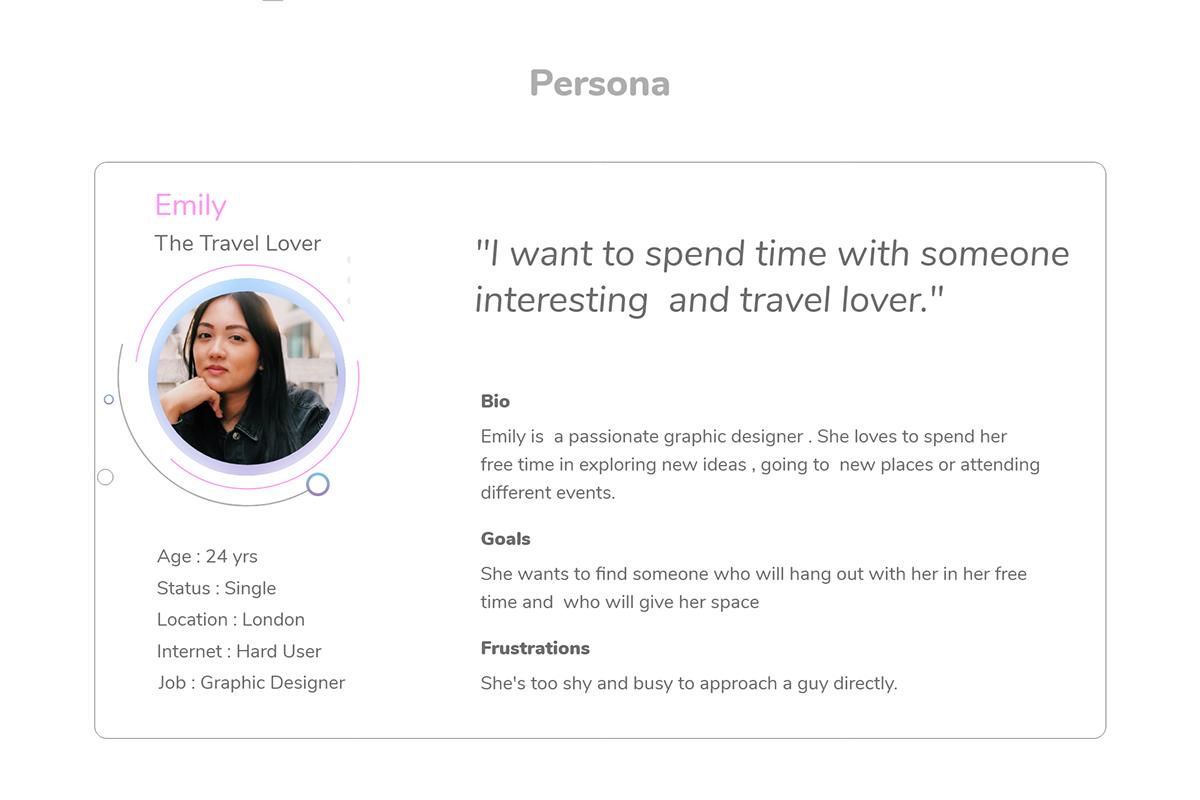 dating app design persona