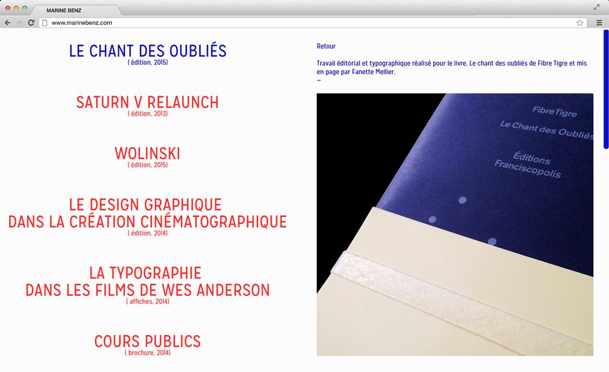 Website Webdesign editorial portfolio gallery