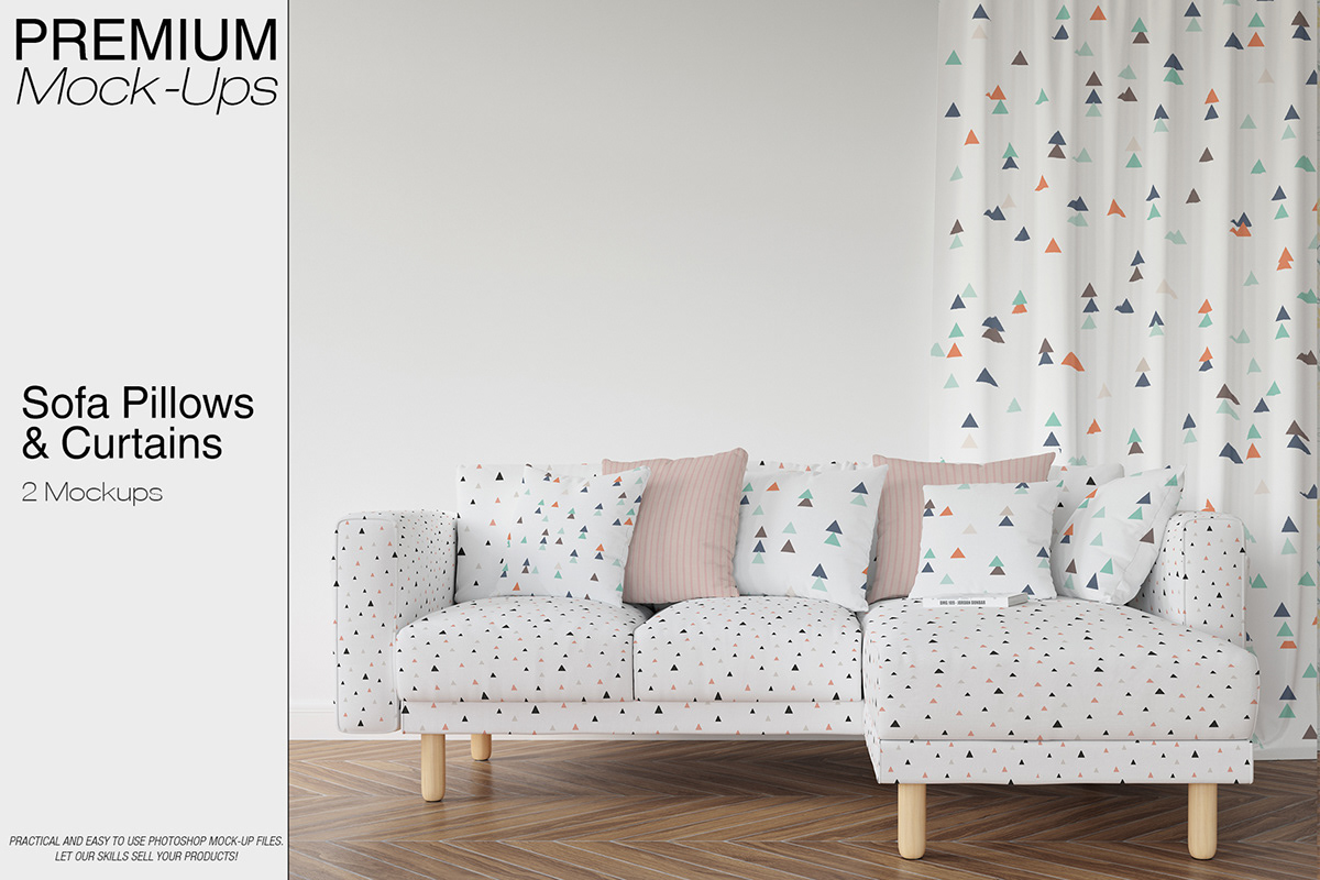 Admirable Sofa Pillows Curtains Mockup Pack On Wacom Gallery Andrewgaddart Wooden Chair Designs For Living Room Andrewgaddartcom