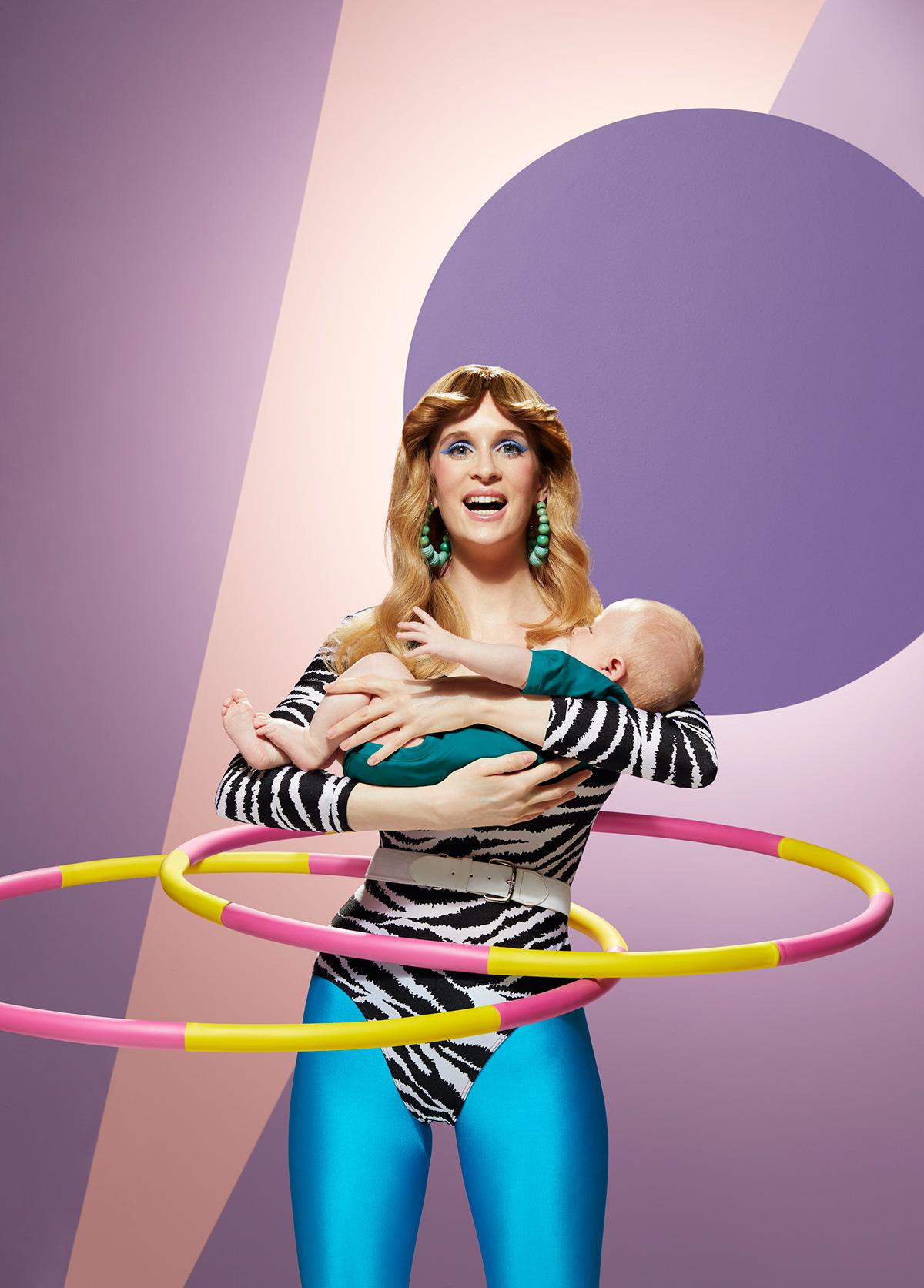 Image may contain: hula-hoop, wall and cartoon