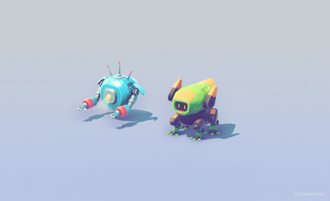 Low poly meets space on Behance