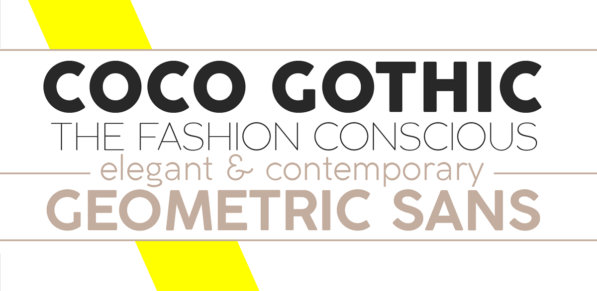 Coco Gothic - NEW: 2 FREE WEIGHTS on Pantone Canvas Gallery