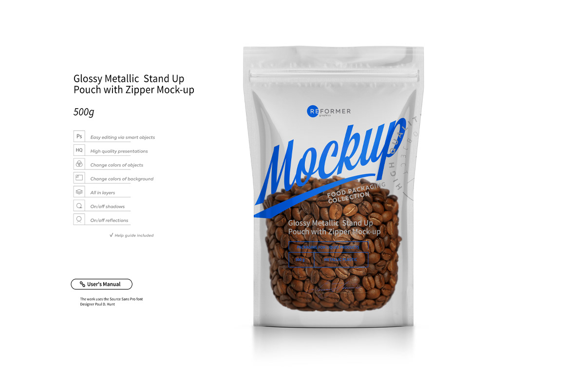 Download Stand Up Pouch With Zipper Mockup Set On Behance