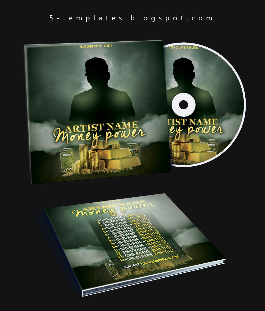 Money Power Mixtape Cd Cover Free Psd Template On Behance