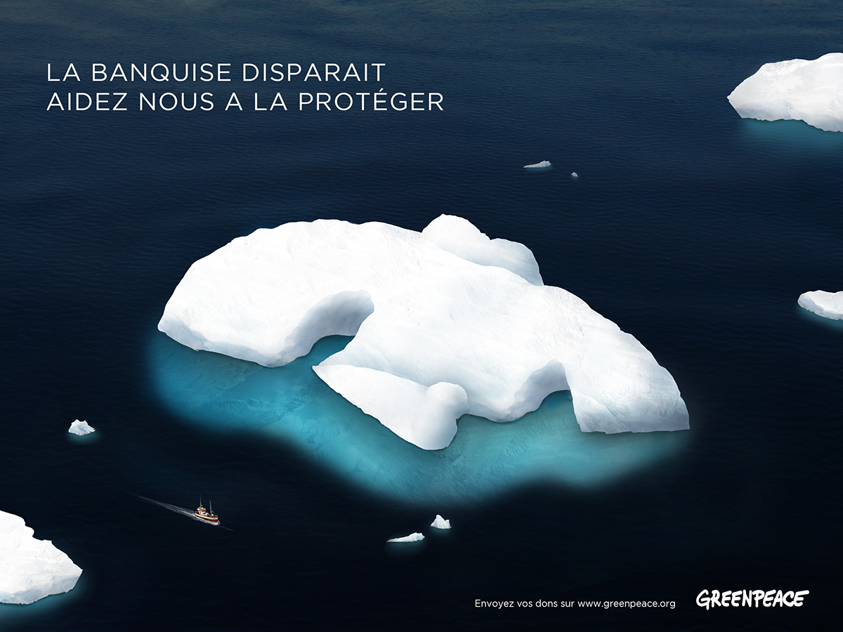 Greenpeace ong banquise ice fonte donations campaign ad ads Advertising  NGO global warming cop21 climat publicité