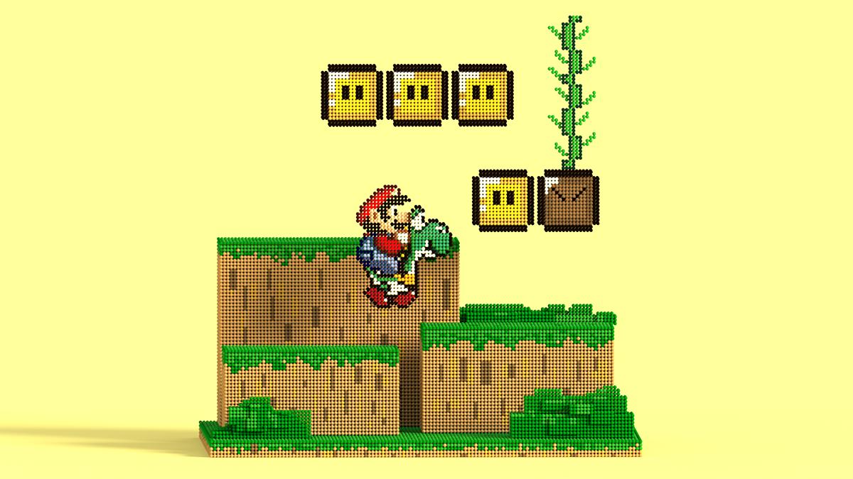 Pixel Art Super Mario World On Student Show