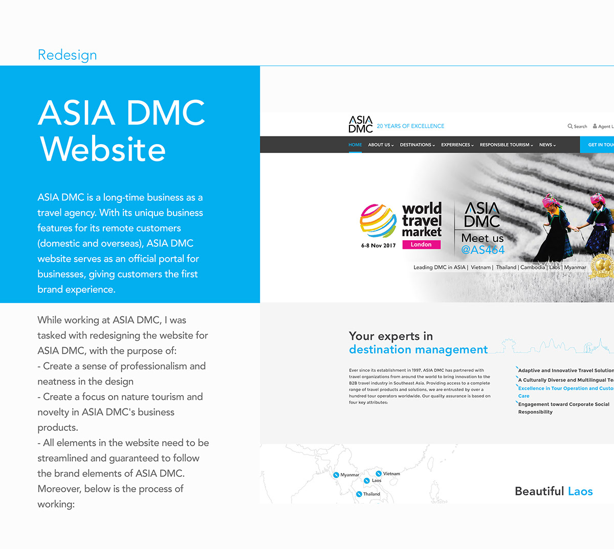 Redesign ASIA DMC - A Travel Agency Website on Student Show