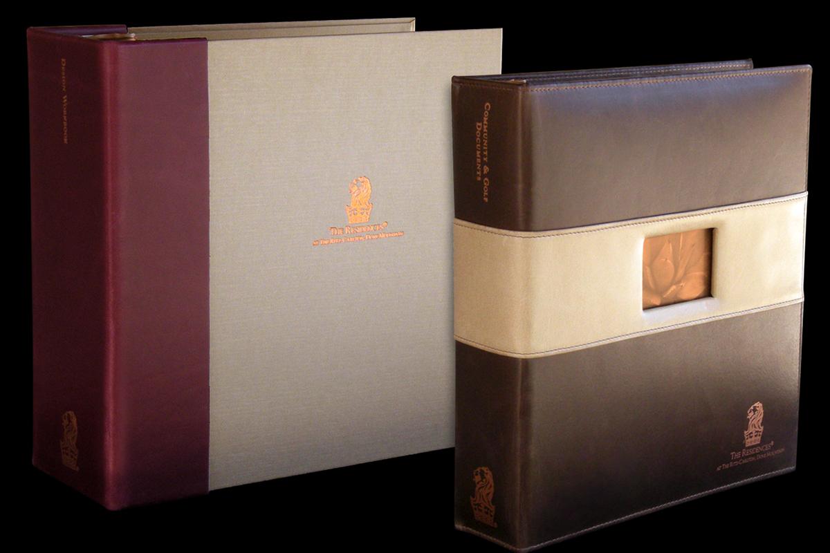 custom binders leather metal