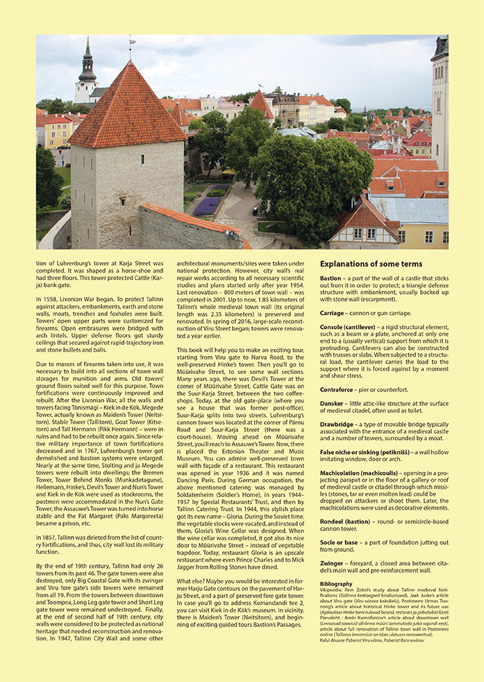folding book medieval history arhitecture children`s book 3d book Tallinn medieval town wall tower
