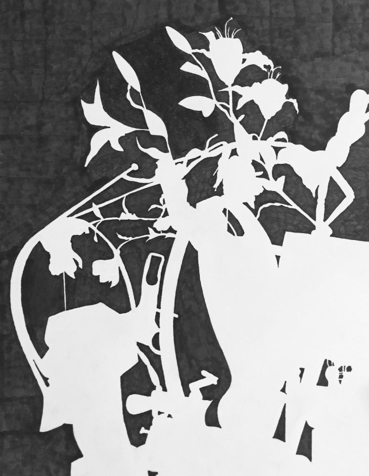 Negative Space Still-Life on Behance Negative Space Drawing Still Life