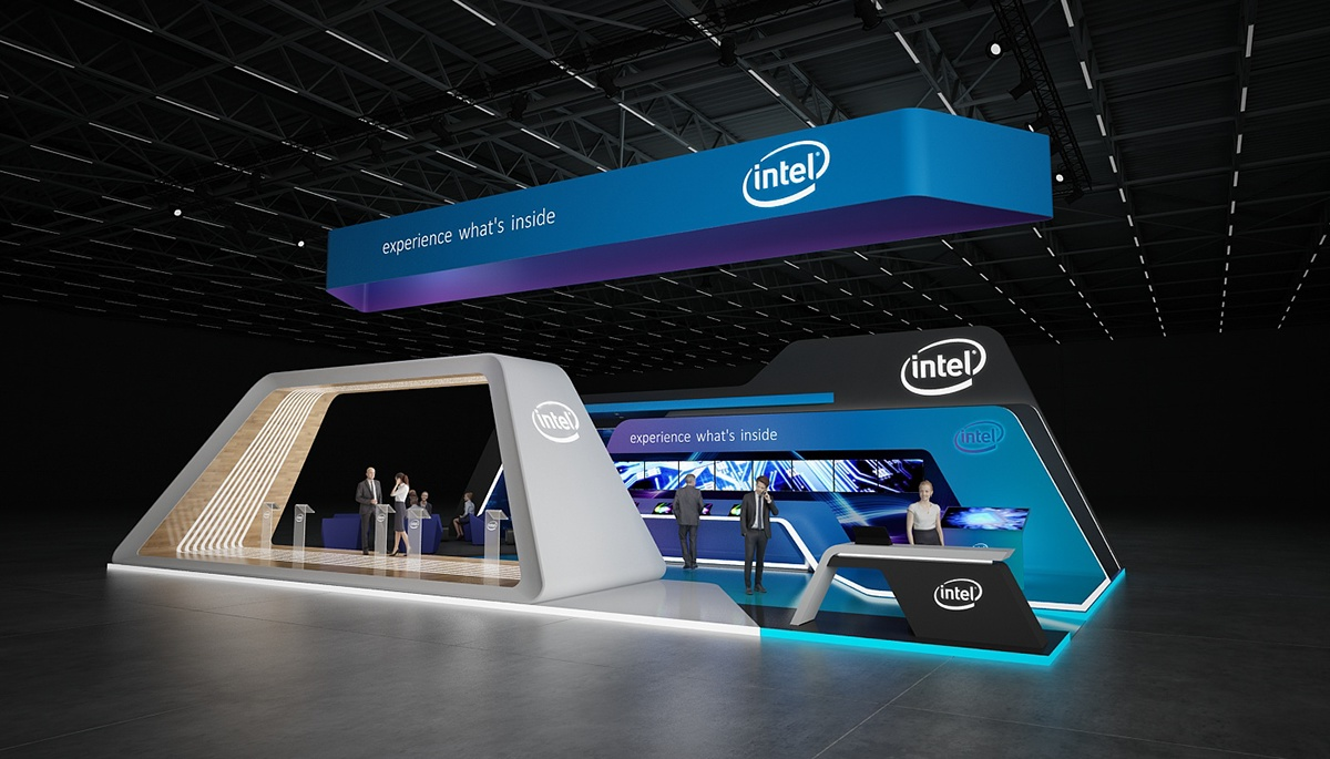 Exhibition Stand Behance : Intel exhibition stand on behance