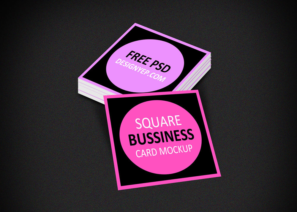 Free square business card mockup psd on behance reheart
