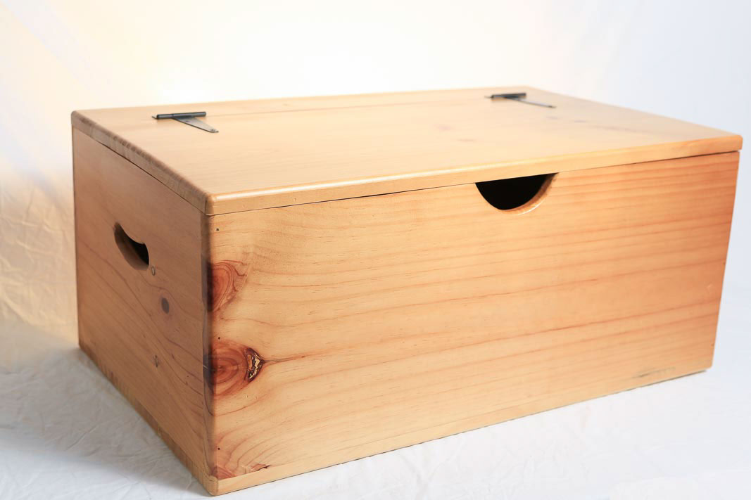 Storage Box   Wooden   Large   Flat Top   Hinged Lid On Behance