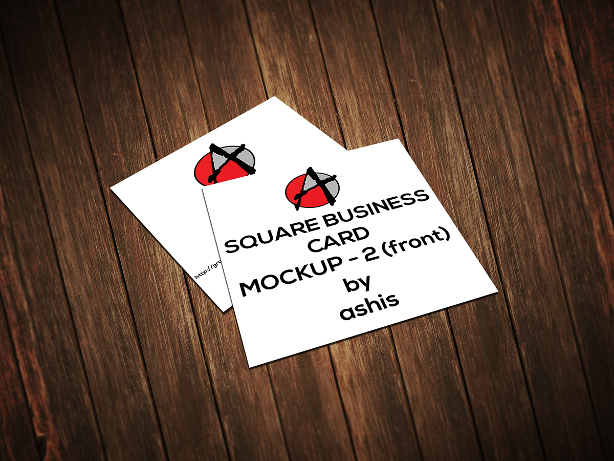 2 SQUARE BUSINESS CARD MOCKUP [free] on Behance