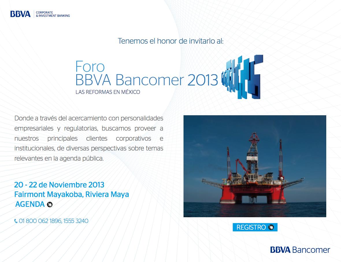 Bancomer: FORO BBVA BANCOMER 2013 On Behance