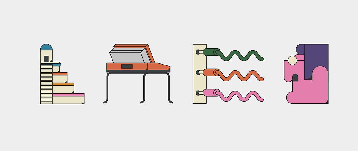 moog analog synthesizer ILLUSTRATION  John Alcorn SYNTH mexico adobeillustrator