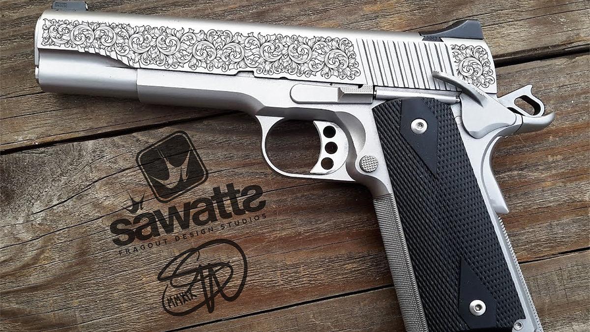 SA Laser Engraving Firearm Vector Illustrations & more on