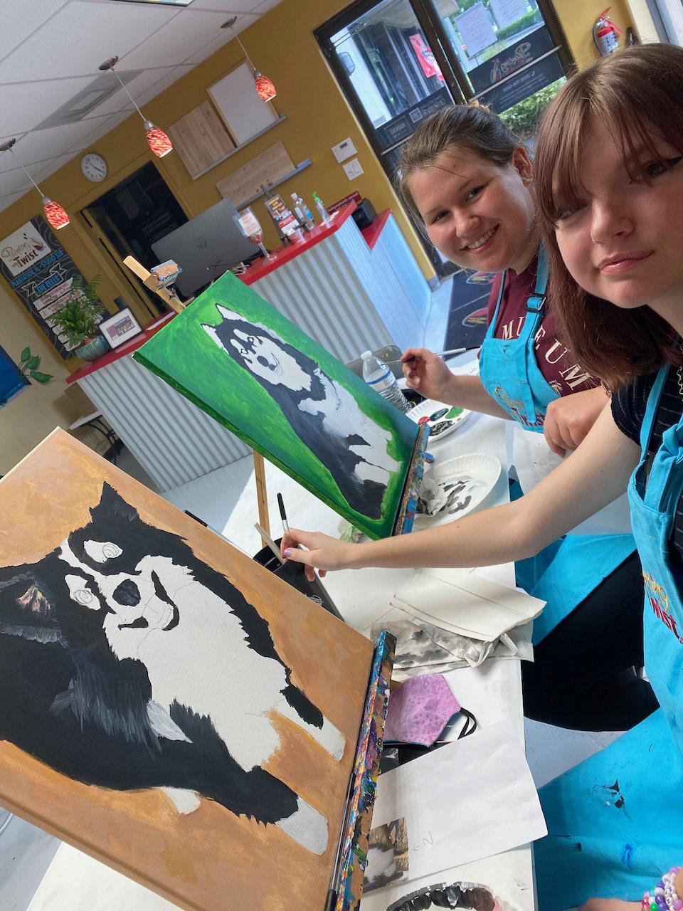 art Bricole Reincke creative Creativity mini aussie painting   southwest ranches