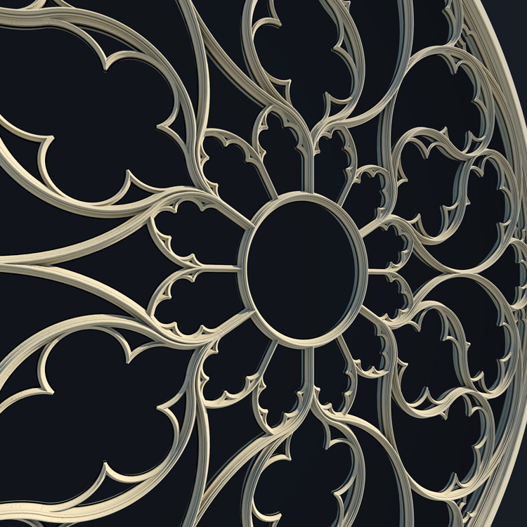 Elegant Gothic Rose Window On Behance