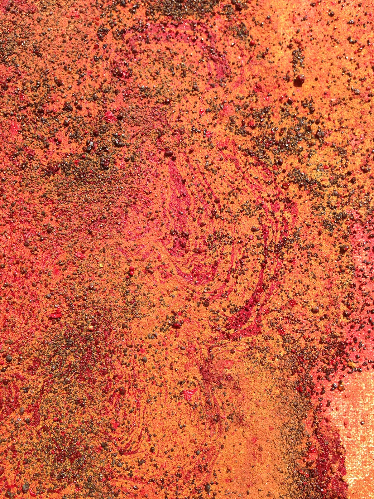 soilpainting acrylic Landscape abstract contenporary red mars