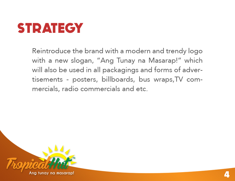tropical hut marketing plan Marketing mix: since an international fast food chain like pizza hut demands both quality product and a high quality service and environment, its marketing mix comprises of all the seven p's namely the product, price, promotion, place, people physical evidence and process.