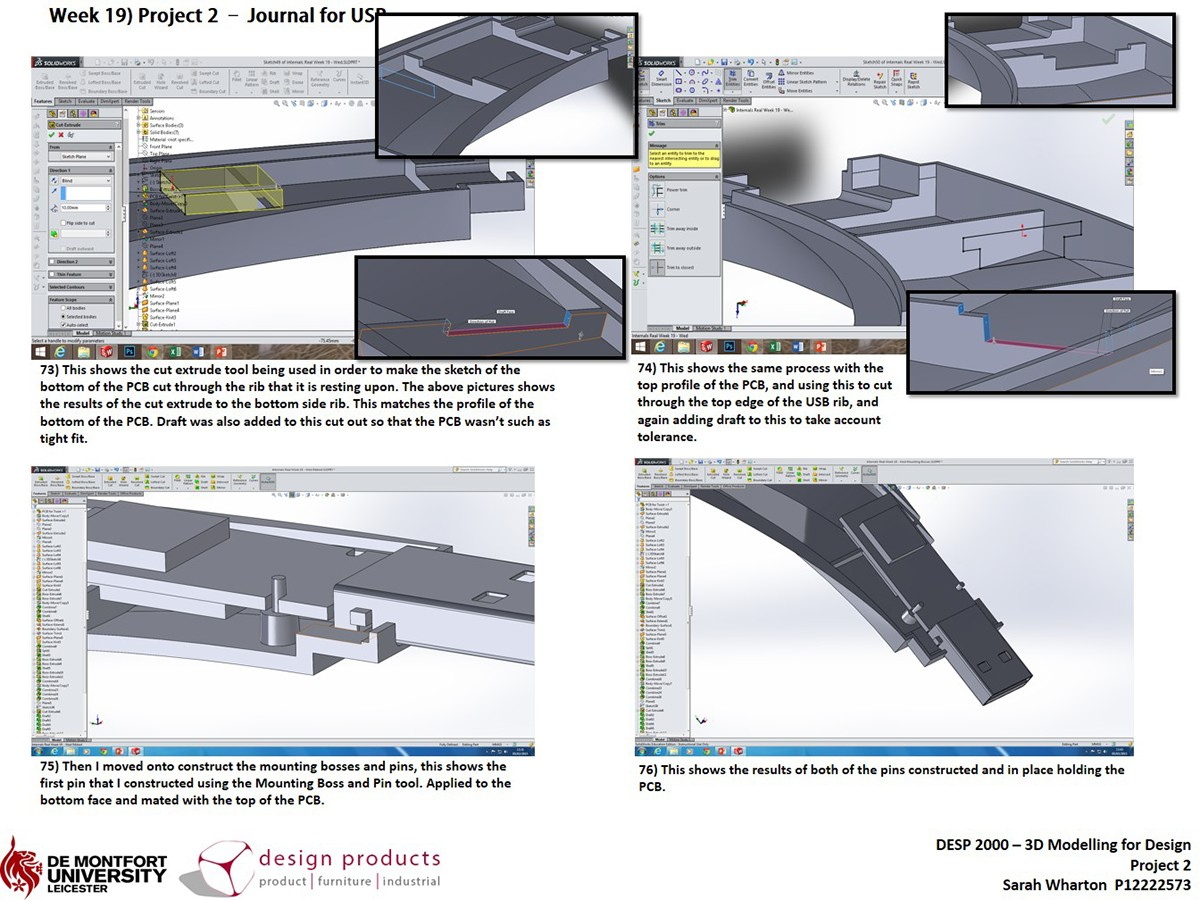 Usb modelling technical drawings and rendering on behance for Wharton cad