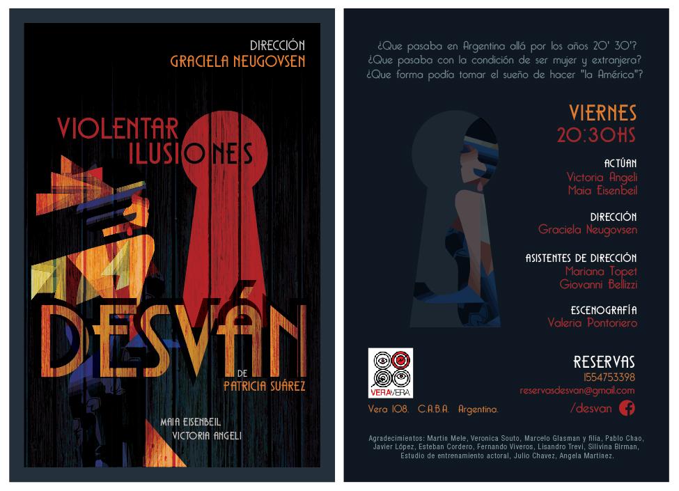 afiche flyer teatro