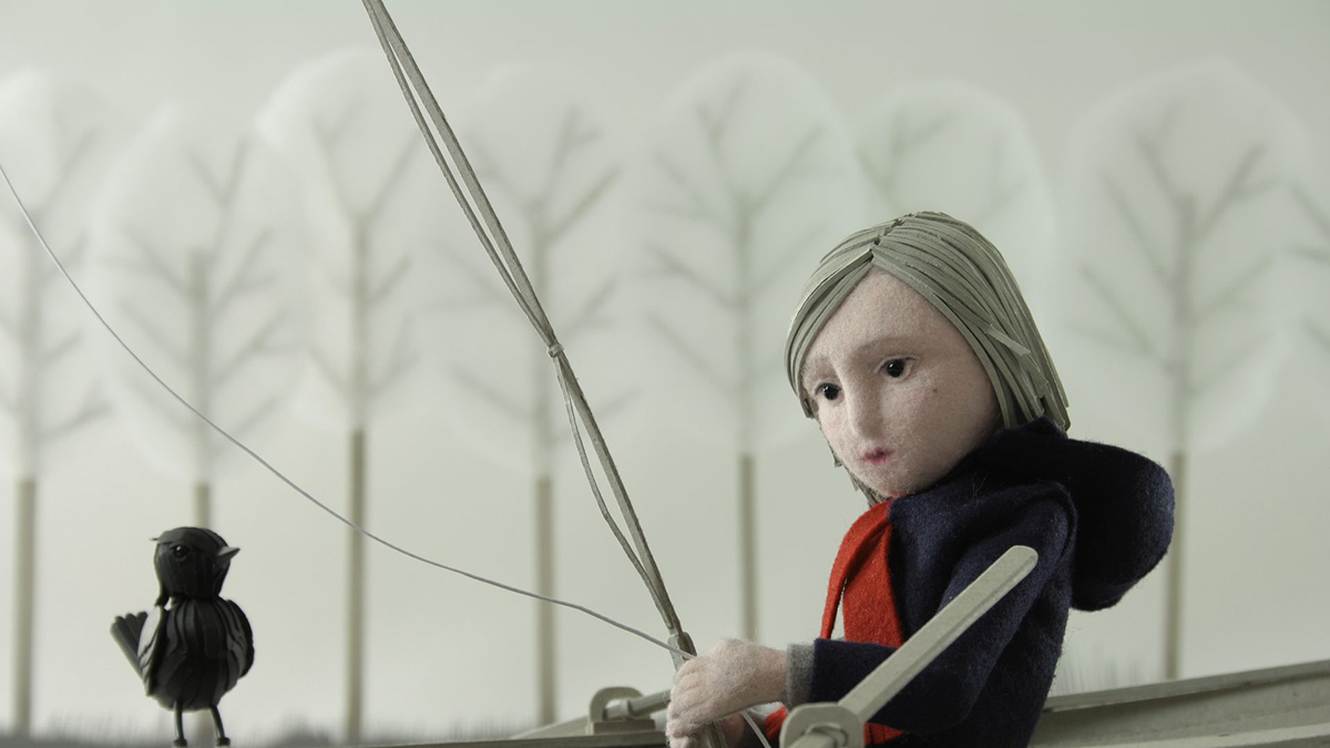 stop motion cardboard paper puppet short film Childhood Memory Character