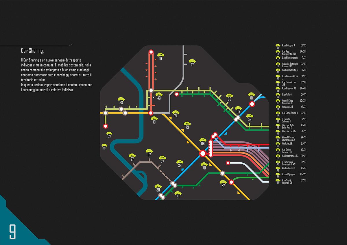 map graphic city metro Rome underground Travel train