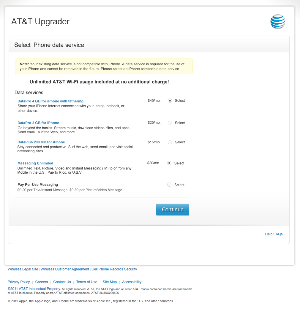 AT&T: iPhone Upgrade Web Flow Design on Behance