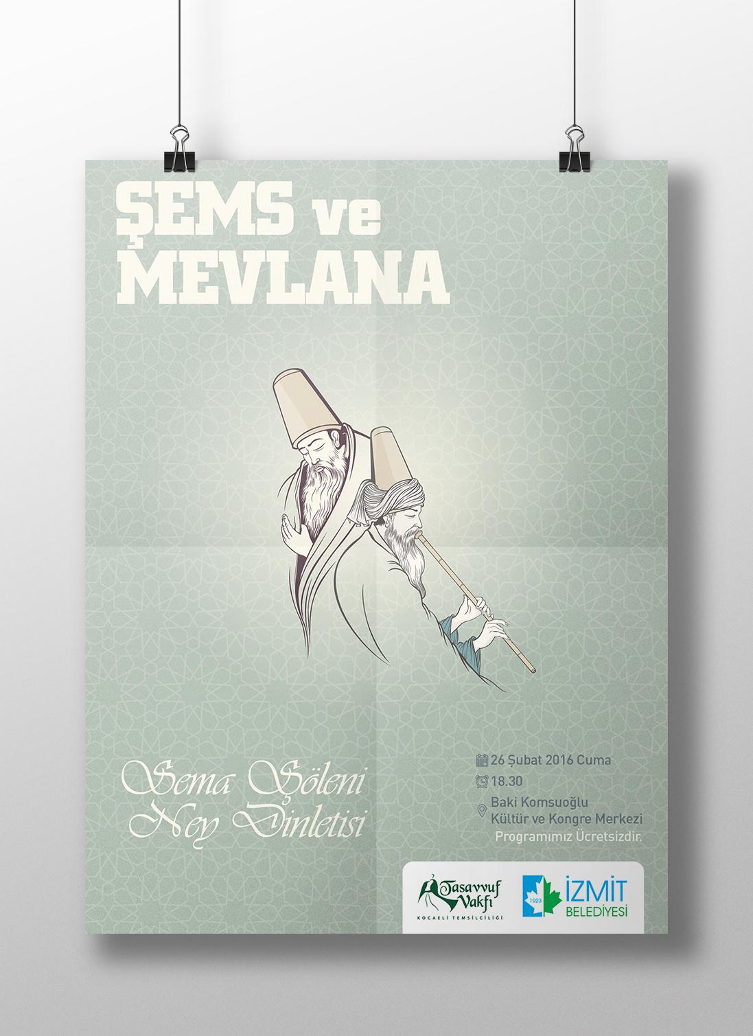 Mevlana poster Afiş