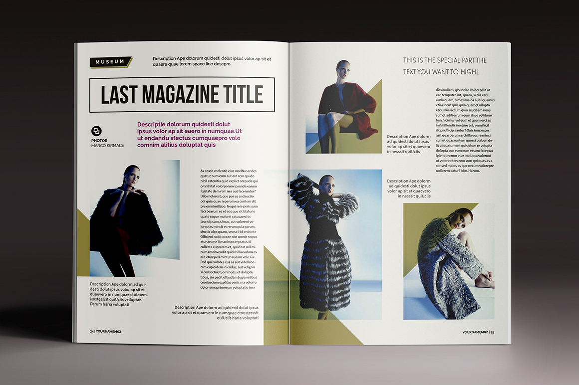 Magazine & Brochure InDesign Templates on Behance