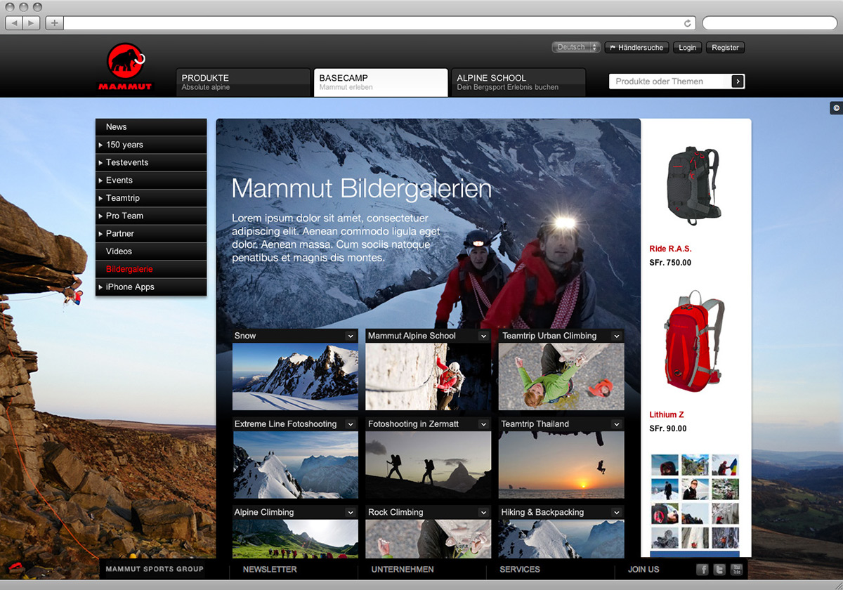 3a474205902092 Mammut – various works on Behance