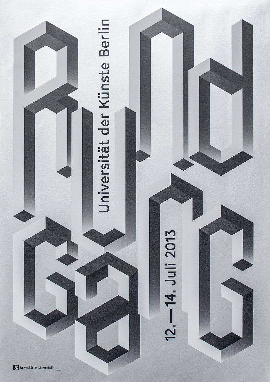 Flyer-/Plakatentwurf für Rundgang 2013 der UdK on Behance