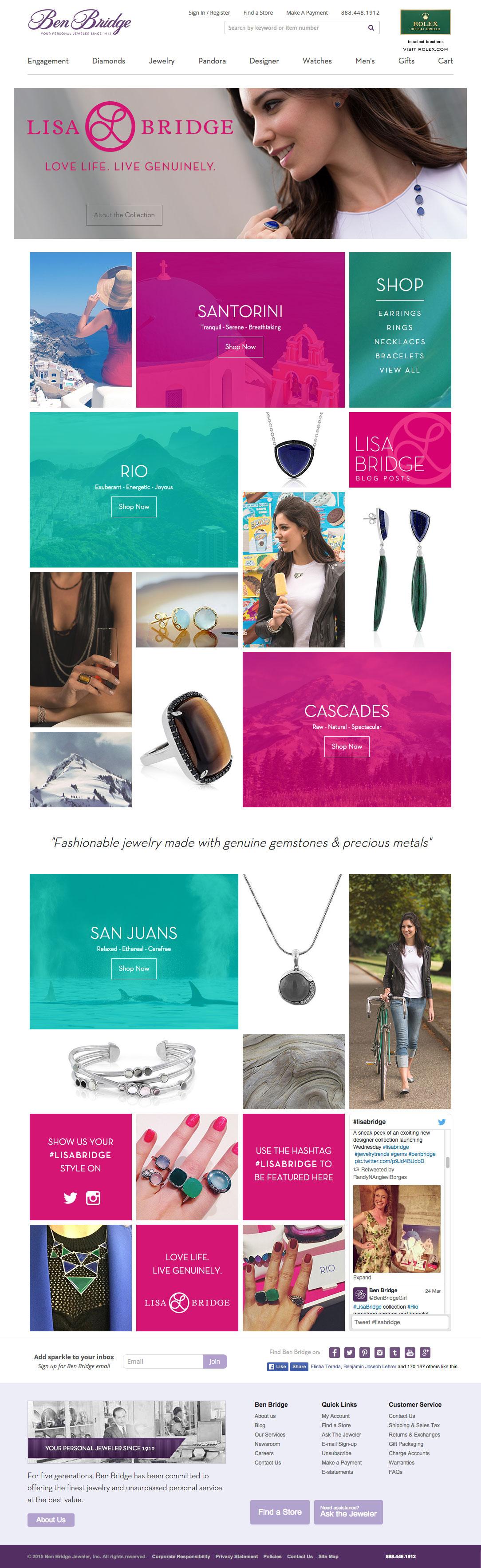Adobe Portfolio Website luxury fresh modern Style jewelry Jeweler Layout