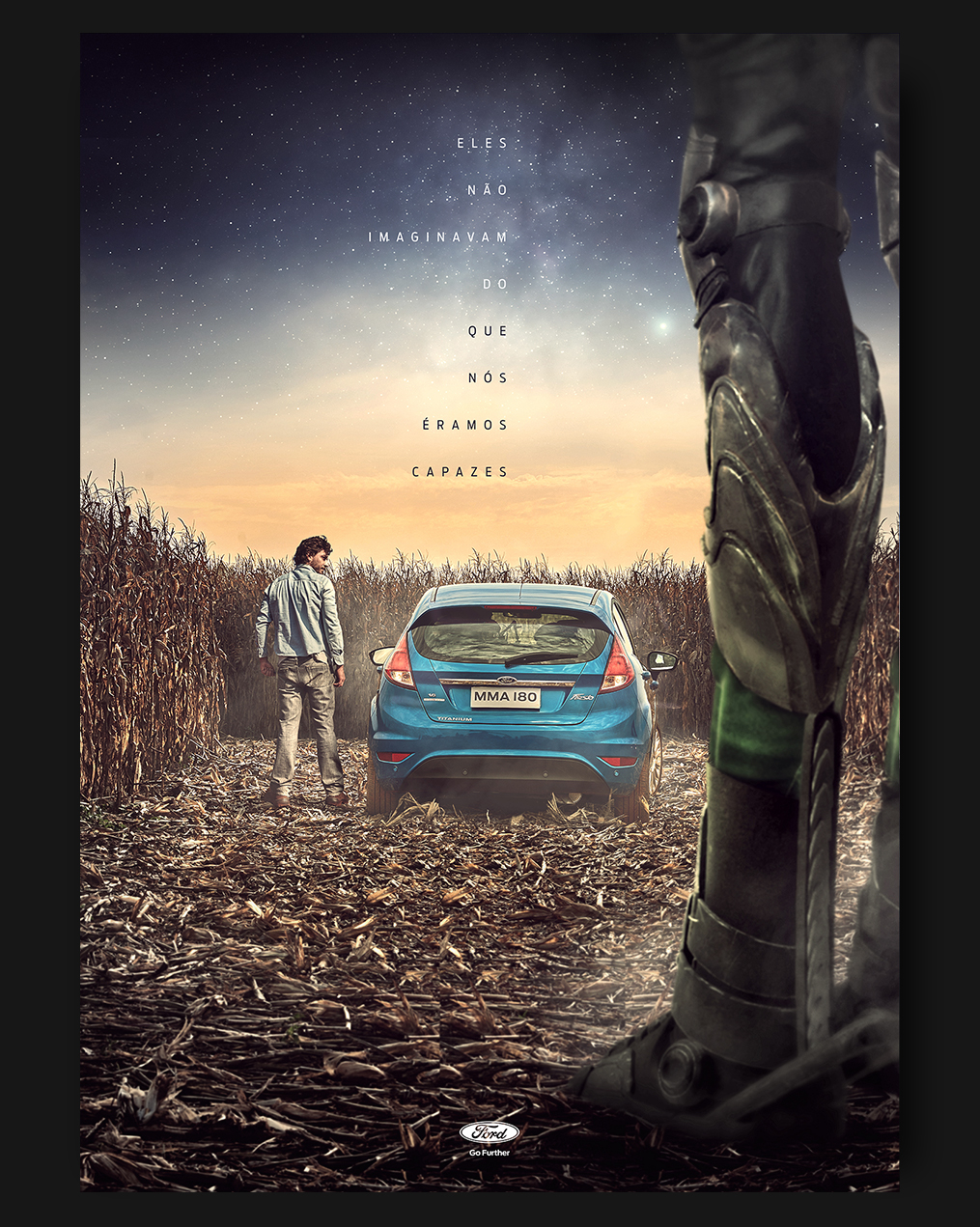 Ford automotive   new fiesta alien spaceship poster print tvc car signs