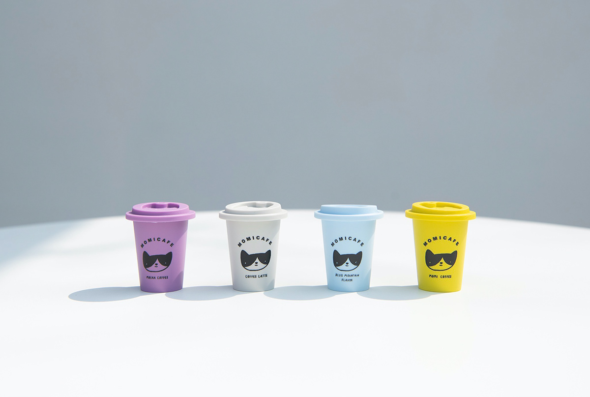Coffee cafe cats ILLUSTRATION  branding  promoting enjoy dessert shop sweet